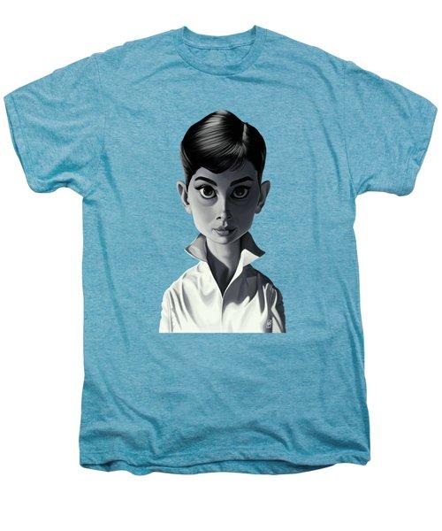 Celebrity Sunday - Audrey Hepburn Men's Premium T-Shirt by Rob Snow