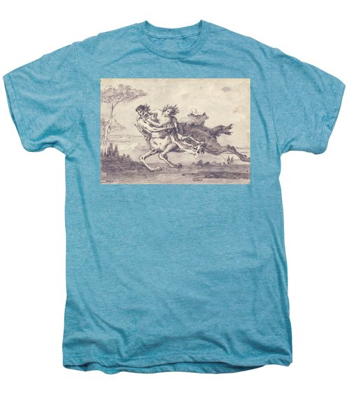 Centaur Abducting A Satyress Men's Premium T-Shirt