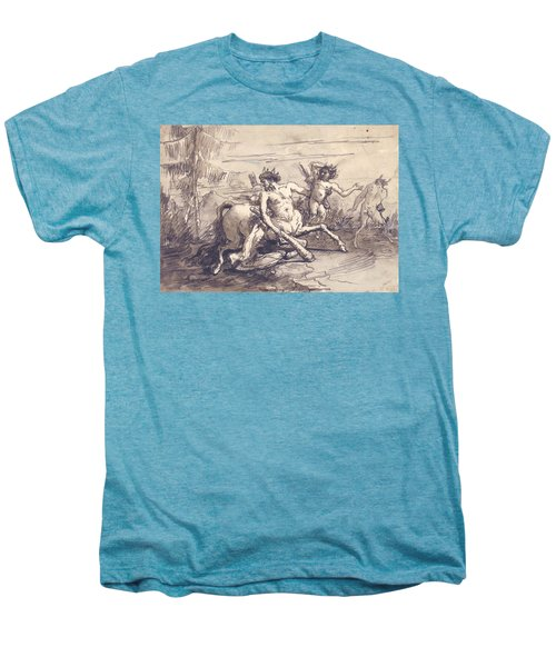 Centaur With A Club, And Two Satyrs Men's Premium T-Shirt