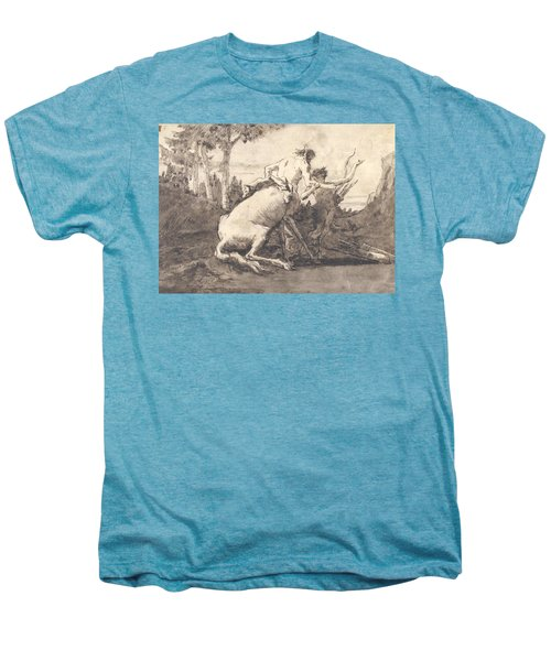 Centaur With A Young Satyr Men's Premium T-Shirt