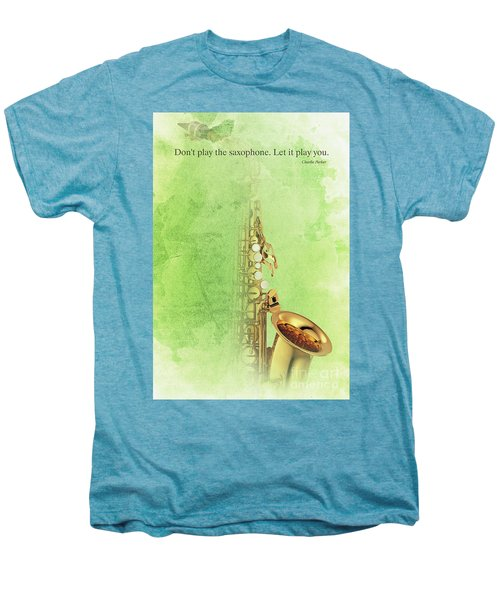 Charlie Parker Saxophone Green Vintage Poster And Quote, Gift For Musicians Men's Premium T-Shirt by Pablo Franchi