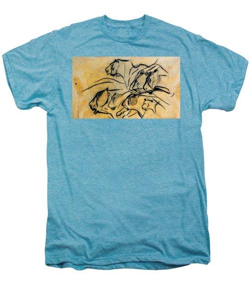 chauvet cave lions Clear Men's Premium T-Shirt