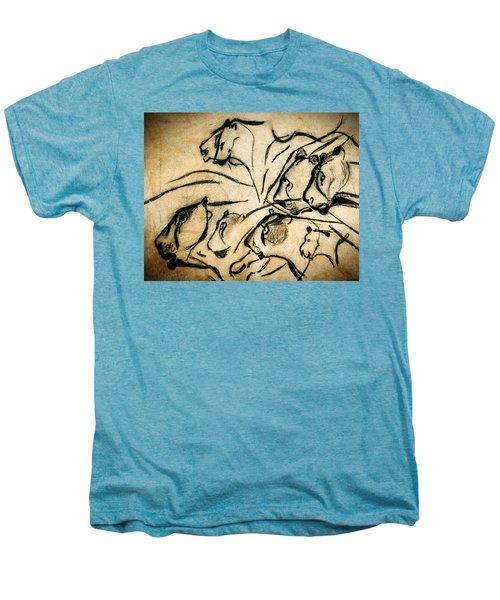Chauvet Cave Lions Men's Premium T-Shirt