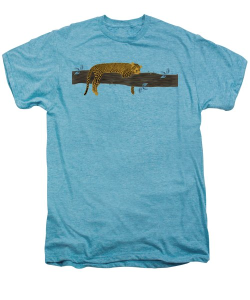 Cheetah Chill Men's Premium T-Shirt by Priscilla Wolfe