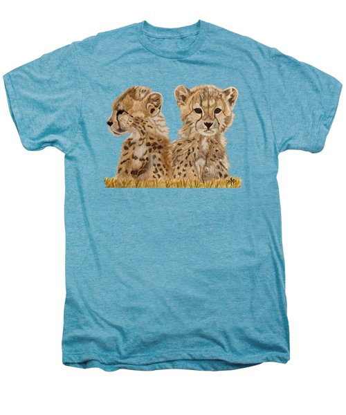 Cheetah Cubs Men's Premium T-Shirt by Angeles M Pomata