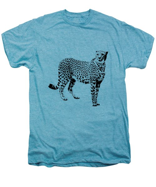 Cheetah Cutout Men's Premium T-Shirt by Greg Noblin