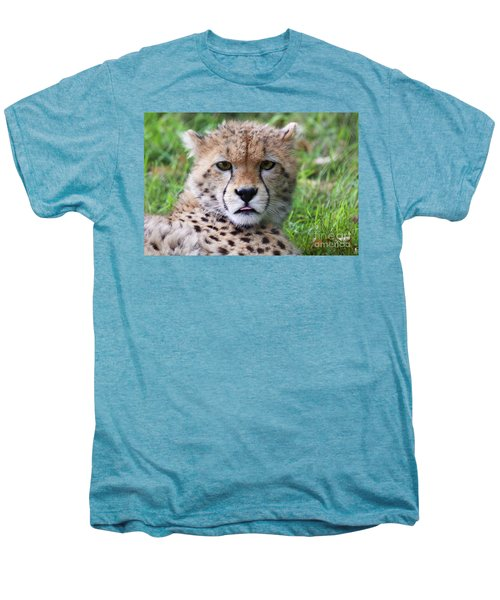 Men's Premium T-Shirt featuring the photograph Cheetah by MGL Meiklejohn Graphics Licensing