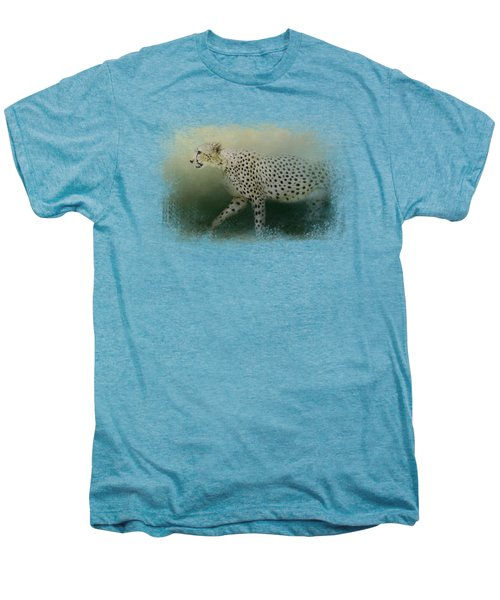 Cheetah On The Prowl Men's Premium T-Shirt by Jai Johnson