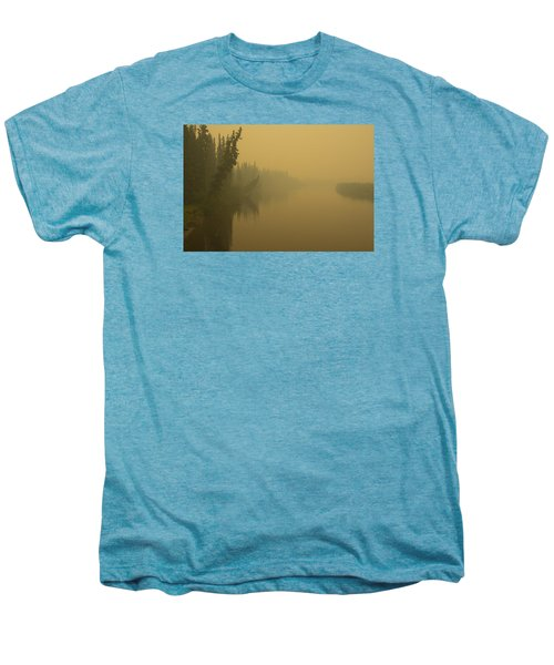 Men's Premium T-Shirt featuring the photograph Chena River by Gary Lengyel