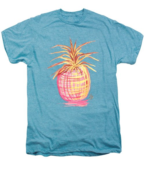 Chic Pink Metallic Gold Pineapple Fruit Wall Art Aroon Melane 2015 Collection By Madart Men's Premium T-Shirt