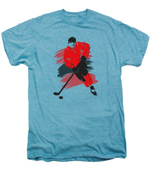 Chicago Blackhawks Player Shirt Men's Premium T-Shirt by Joe Hamilton