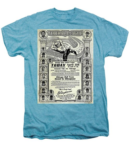 Chicago Cub Poster Men's Premium T-Shirt by Jon Neidert