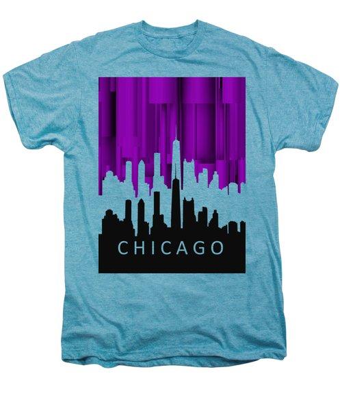 Chicago Violet In Negative Men's Premium T-Shirt by Alberto RuiZ