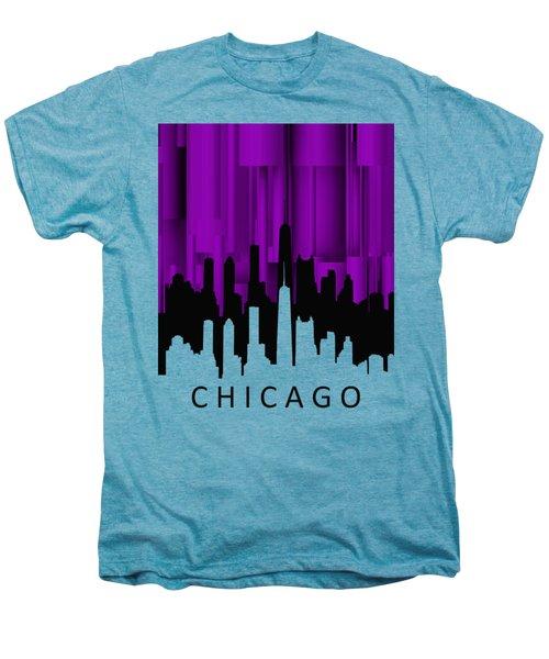Chicago Violet Vertical  Men's Premium T-Shirt by Alberto RuiZ