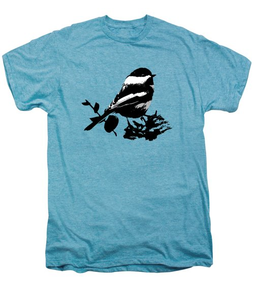 Chickadee Bird Pattern Men's Premium T-Shirt by Christina Rollo