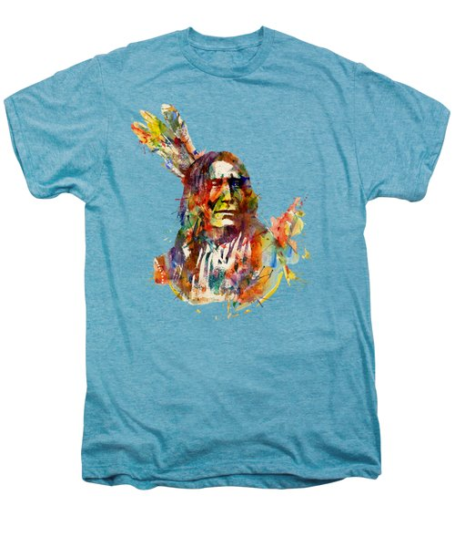 Chief Mojo Watercolor Men's Premium T-Shirt by Marian Voicu