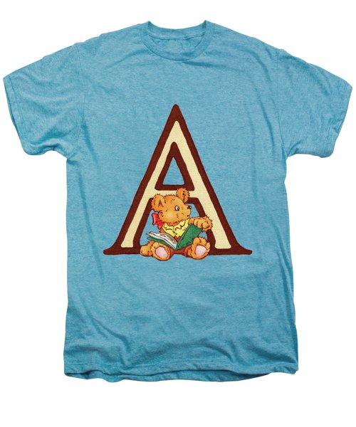 Children's Letter A Men's Premium T-Shirt by Andrea Richardson