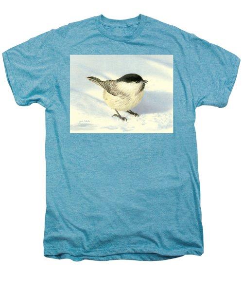 Chilly Chickadee Men's Premium T-Shirt by Sarah Batalka