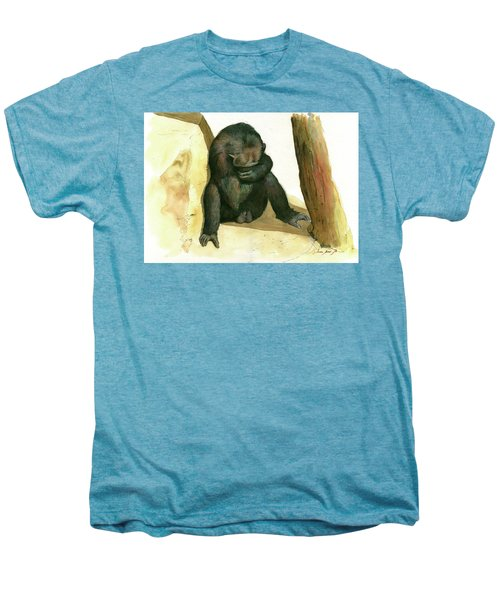 Chimp Men's Premium T-Shirt by Juan Bosco