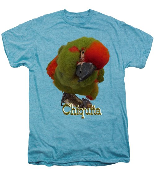 Chiquita, A Red-front Macaw Men's Premium T-Shirt