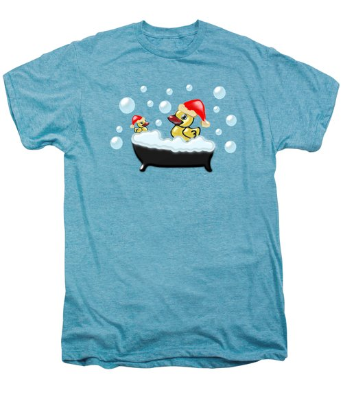 Christmas Ducks Men's Premium T-Shirt by Anastasiya Malakhova