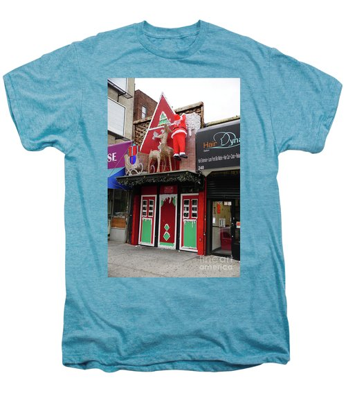 Christmas On Sherman Avenue  Men's Premium T-Shirt by Cole Thompson