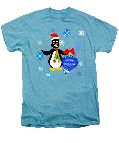 Christmas Penguin Men's Premium T-Shirt