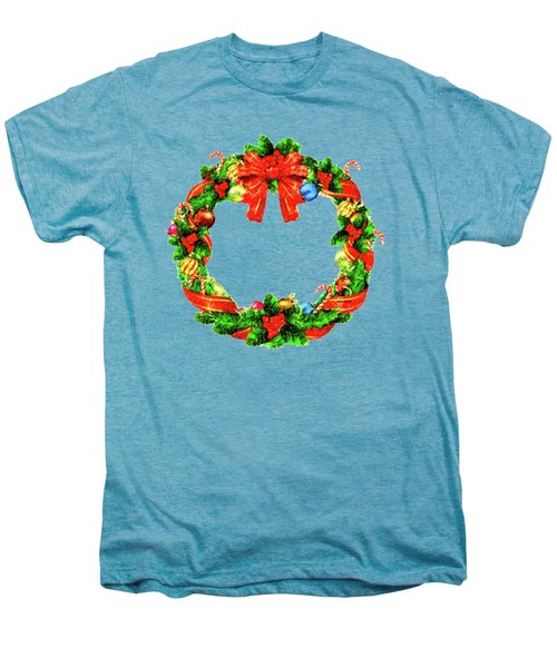 Christmas Wreath Men's Premium T-Shirt