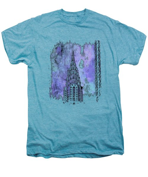 Chrysler Spire Berry Blues 3 Dimensional Men's Premium T-Shirt by Di Designs