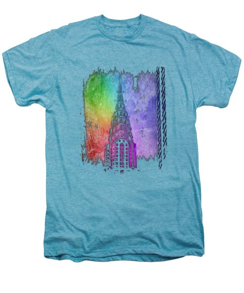 Chrysler Spire Cool Rainbow 3 Dimensional Men's Premium T-Shirt