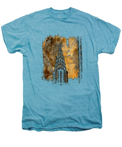 Chrysler Spire Earthy 3 Dimensional Men's Premium T-Shirt by Di Designs