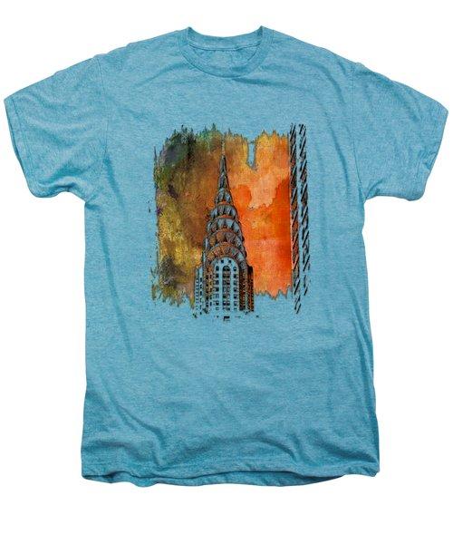 Chrysler Spire Earthy Rainbow 3 Dimensional Men's Premium T-Shirt by Di Designs