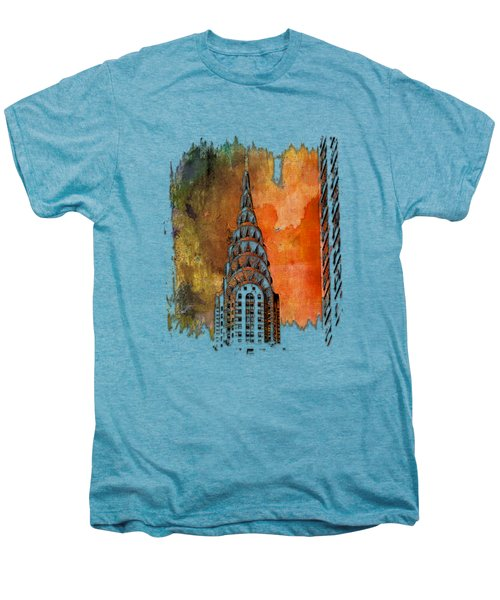 Chrysler Spire Earthy Rainbow 3 Dimensional Men's Premium T-Shirt