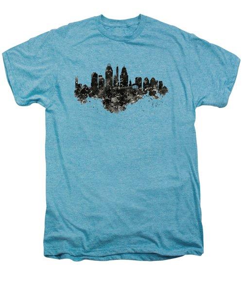Cincinnati Skyline Black And White Men's Premium T-Shirt