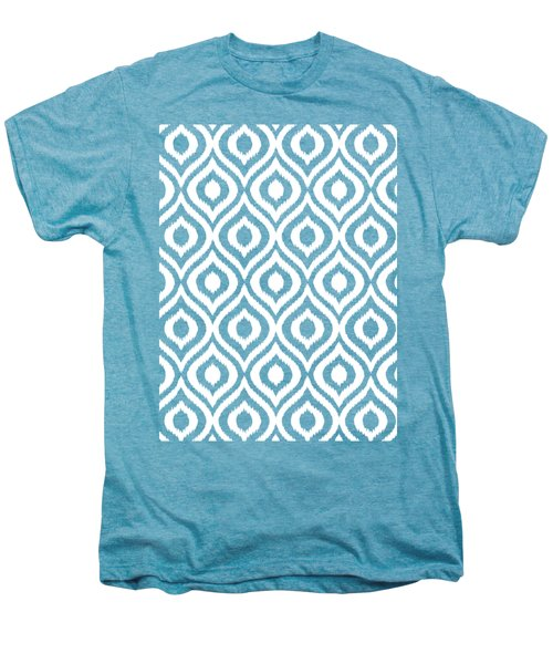 Circle And Oval Ikat In White N05-p0100 Men's Premium T-Shirt
