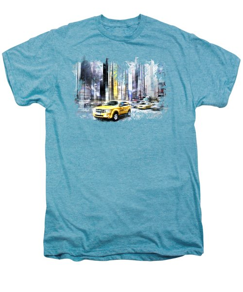 City-art Times Square II Men's Premium T-Shirt by Melanie Viola