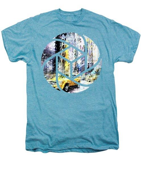 City-art Times Square Streetscene Men's Premium T-Shirt by Melanie Viola