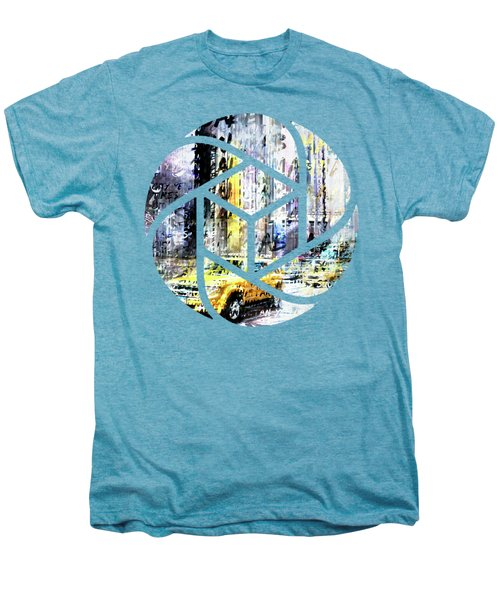 City-art Times Square Streetscene Men's Premium T-Shirt