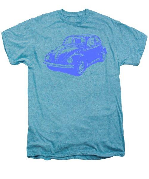 Classic Vw Beetle Tee Blue Ink Men's Premium T-Shirt