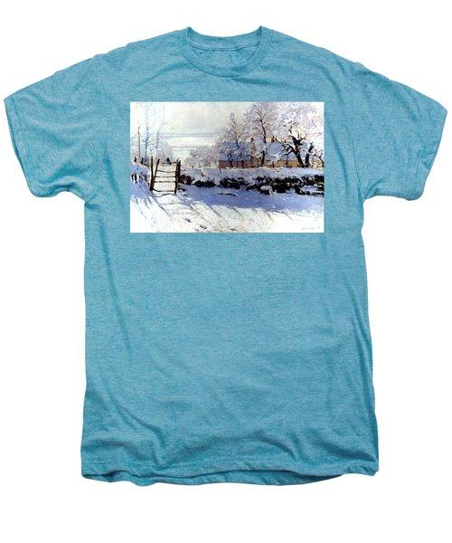 Claude Monet The Magpie - To License For Professional Use Visit Granger.com Men's Premium T-Shirt