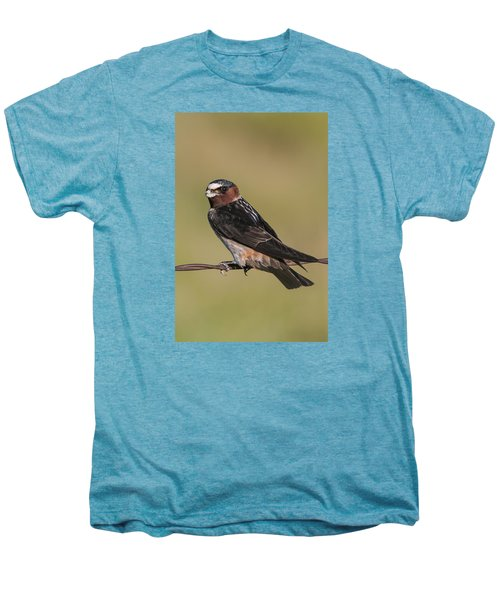 Men's Premium T-Shirt featuring the photograph Cliff Swallow by Gary Lengyel