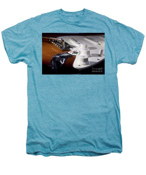 Men's Premium T-Shirt featuring the photograph Close Up Guitar by MGL Meiklejohn Graphics Licensing