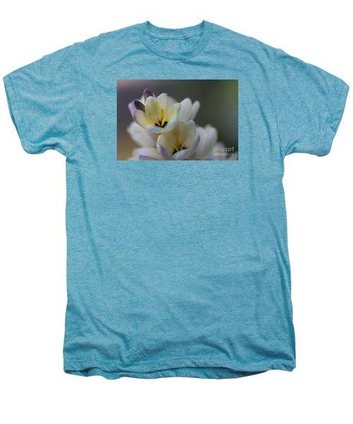 Close-up Of White Freesia Men's Premium T-Shirt