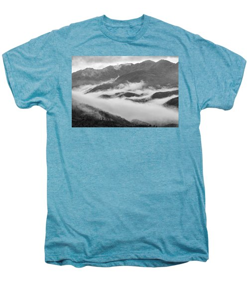 Men's Premium T-Shirt featuring the photograph Clouds In Valley, Sa Pa, 2014 by Hitendra SINKAR
