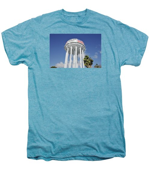 Cocoa Water Tower With American Flag Men's Premium T-Shirt