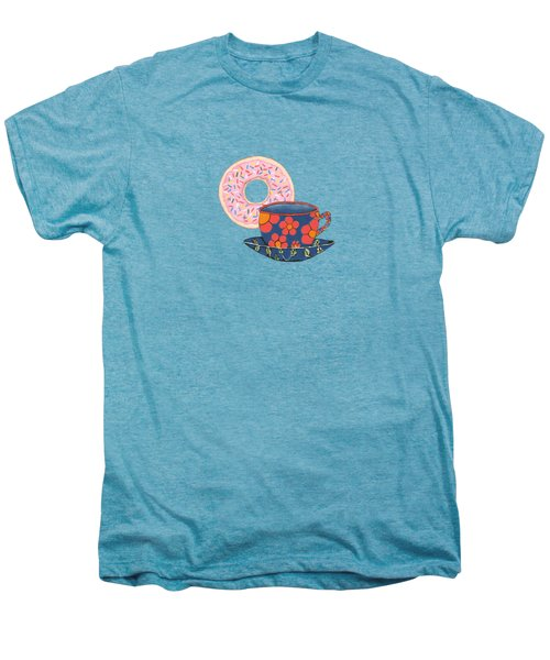 Coffee And Donuts Men's Premium T-Shirt by Kathleen Sartoris
