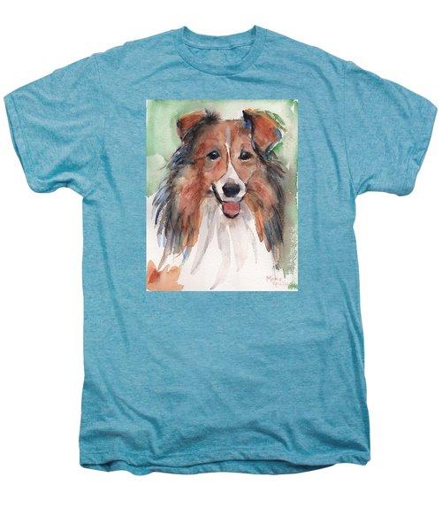 Collie, Shetland Sheepdog Men's Premium T-Shirt by Maria's Watercolor
