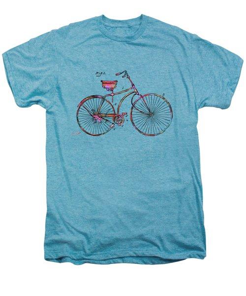 Colorful 1890 Bicycle Patent Minimal Men's Premium T-Shirt