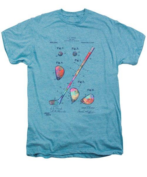 Colorful 1910 Golf Club Patent Men's Premium T-Shirt