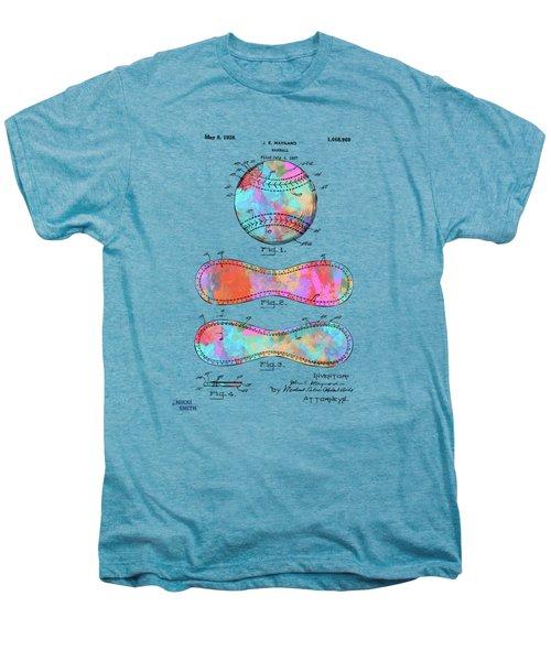 Colorful 1928 Baseball Patent Artwork Men's Premium T-Shirt